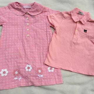 ダブルビー(DOUBLE.B)の美品 ミキハウス ダブルB ポロシャツ&ワンピース2点セット(ブラウス)