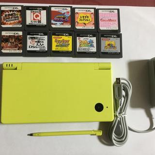 ニンテンドーDS(ニンテンドーDS)のDSi    イエロー本体     ソフト10本セット(携帯用ゲーム機本体)