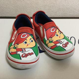 VANS カープ スリッポン 靴 サイズ17 キッズ 赤 中古限定品(スリッポン)