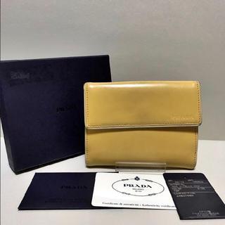 プラダ(PRADA)の◆美品◆ プラダ 折財布 レザー イエロー(財布)