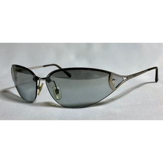 ジャンニヴェルサーチ(Gianni Versace)の正規良 ヴェルサーチ メデューサロゴ メタルスポーティーサングラス 黒×クローム(サングラス/メガネ)