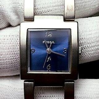 43abafe1d9 フォッシル(FOSSIL)のFOSSILフォッシル レディースバングルウォッチ 文字盤ネイビーブルー(腕時計
