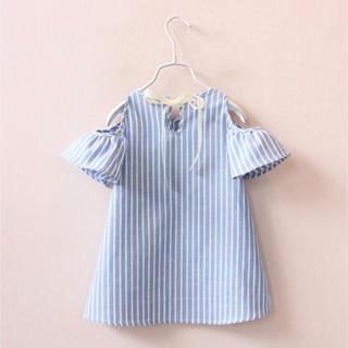 新品✳︎韓国子供服 ストライプワンピース(ワンピース)