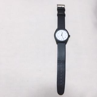ムジルシリョウヒン(MUJI (無印良品))の無印良品  ソーラーパワーウォッチ 黒(腕時計)
