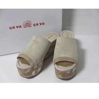 サヴァサヴァ(cavacava)の cava cava サバサバ 本革 厚底 ミュール サンダル(ミュール)