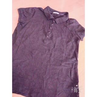 ジーユー(GU)の黒ポロシャツ(GU)(ポロシャツ)