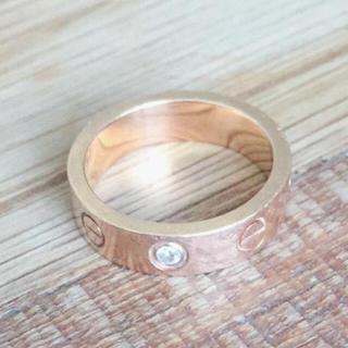 カルティエ(Cartier)のカルティエ ラブリング 1粒ダイヤ(リング(指輪))