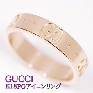 グッチ(Gucci)のGUCCI■K18ピンクゴールド アイコンリング(リング(指輪))