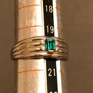 pt900 エメラルド ダイヤ0.02ct リング(リング(指輪))