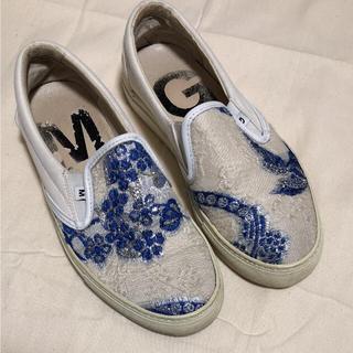 グリフォーニ(GRIFONI)のMAURO GRIFONI スリッポン 刺繍 23.5〜24cm(スニーカー)