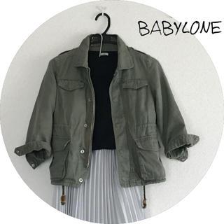 バビロン(BABYLONE)の【BABYLONE】ミリタリーカーキジャケット(ミリタリージャケット)