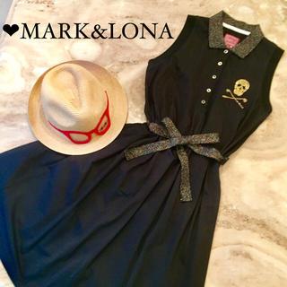 マークアンドロナ(MARK&LONA)のMARK&LONA♡ワンピース♡美品 黒×ラメ(ウエア)