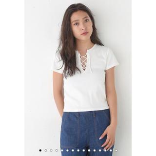 スライ(SLY)の大人気 SLY レースアップTシャツ(Tシャツ(半袖/袖なし))