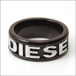 ディーゼル(DIESEL)のディーゼル DIESEL 指輪 リング ブラック×シルバー(リング(指輪))