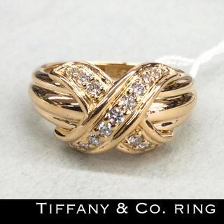ティファニー(Tiffany & Co.)のK18 18金 ティファニー 天然ダイヤモンド 本物 リング レディース (リング(指輪))