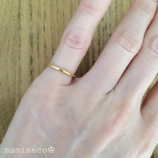 1号サイズ ステンレス製 イエローゴールドリング幅1mm 指輪(リング(指輪))