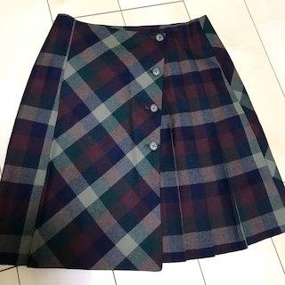 イーストボーイ(EASTBOY)のチェックの巻きスカート(ひざ丈スカート)