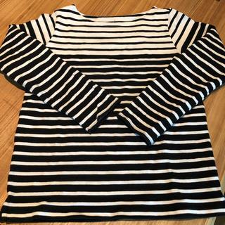 ムジルシリョウヒン(MUJI (無印良品))の無印オーガニックコットン太番手ボーダーカットソーLサイズ(Tシャツ(長袖/七分))