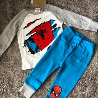 マーベル(MARVEL)の【新品タグ付き】スパイダーマン子供用パジャマ(パジャマ)