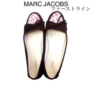 マークバイマークジェイコブス(MARC BY MARC JACOBS)のマークバイ 花柄スエードモカシンブラウン(ローファー/革靴)