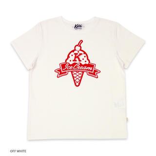 """ケイティー(Katie)の期間限定出品 即完売 ICECREAM """"K"""" tee オフホワイト S(Tシャツ/カットソー(半袖/袖なし))"""