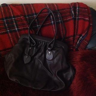ハマノヒカクコウゲイ(濱野皮革工芸)の濱野 肩掛け可 革バッグ  美品(ハンドバッグ)