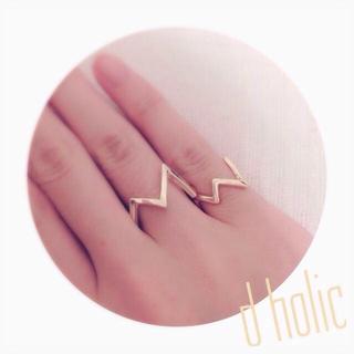 ディーホリック(dholic)の新品 d holic ▽▲ リング (リング(指輪))