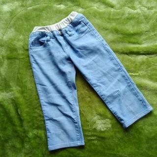 シマムラ(しまむら)のひざ丈パンツ 140 ブルー(パンツ/スパッツ)