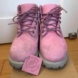 ティンバーランド(Timberland)のTimberLandキッズ!ピンク!18.5センチ(ブーツ)