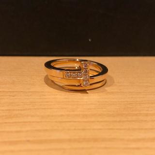 ティファニー(Tiffany & Co.)のTiffany k18ピンクゴールドPG ナローリング(リング(指輪))