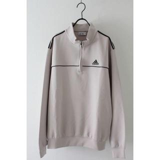 アディダス(adidas)のアディダス ハーフジップ カットソー 古着 スポーツシャツ(Tシャツ/カットソー(七分/長袖))