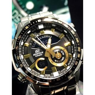 カシオ(CASIO)のstyle.z8様用 CASIO 腕時計 EDIFICE ゴールド×ブラック(金属ベルト)