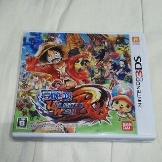 ニンテンドー3DS(ニンテンドー3DS)の返信遅いがさん専用 3DSソフト ワンピースアンリミテッドワールドレッド(家庭用ゲームソフト)