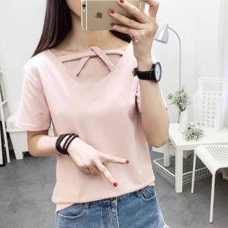 《新品》デザイン Tシャツ サイズXL ピンク(その他)