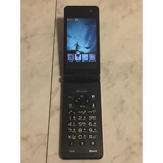 エヌティティドコモ(NTTdocomo)のドコモ P-01G ブラック 中古 美品(携帯電話本体)