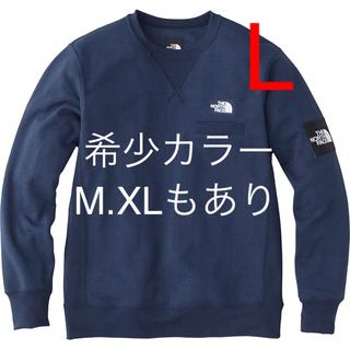 【NT11832】 Lサイズ 【メンズ・ユニセックスウェア】 Z:ミックスグレー (メンズ) 【スウェット・パーカー】 ザ・ノース・フェイス:スクエアロゴクルー
