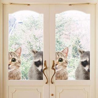 猫シール 猫ステッカー 家政猫はミタ! 家政婦はネコ! 新品未使用品 送料無料♪(猫)