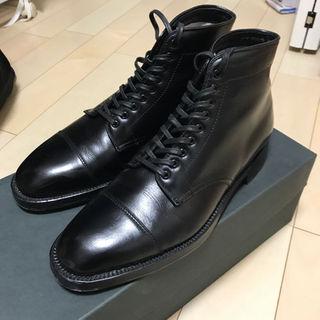 オールデン(Alden)のオールデン カーフ キャップトゥブーツ ブラック 71/2(ブーツ)
