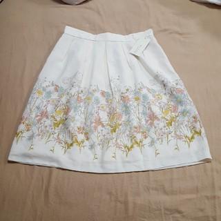 デビュードフィオレ(Debut de Fiore)のDebut de Fiore フラワースカート(ひざ丈スカート)