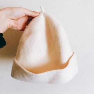 ネストローブ(nest Robe)の【値下!月末まで】nest robe  帽子 ニット帽(ニット帽/ビーニー)