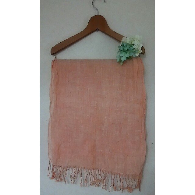 MUJI (無印良品)(ムジルシリョウヒン)の無印良品 リネンストール レディースのファッション小物(ストール/パシュミナ)の商品写真