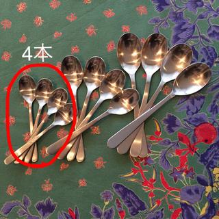ムジルシリョウヒン(MUJI (無印良品))の無印/ステンレスコーヒースプーン4本(カトラリー/箸)