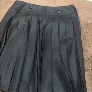 プーラフリーム(pour la frime)のJUN(pour la frime)の黒プリーツスカート(ひざ丈スカート)