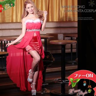 デイジーストア(dazzy store)のサテン キャバドレス レッド  クリスマス(ナイトドレス)