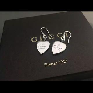 d2f43c6a8aba グッチ(Gucci)のGUCCI 人気 美品 ハートモチーフ ピアス シルバー925(ピアス