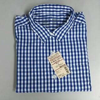... オーガニックコットン洗いざらしギンガムチェックシャツ 婦人M・グレー SALE ...