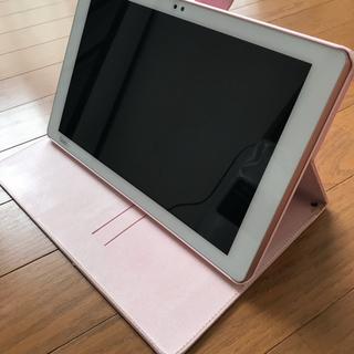 エルジーエレクトロニクス(LG Electronics)のqua tab pz  ピンク(タブレット)