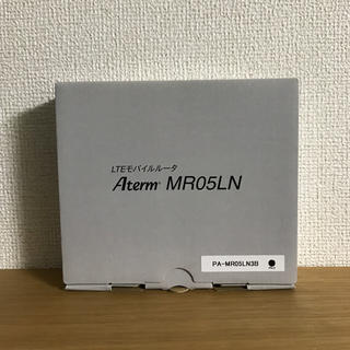 エヌイーシー(NEC)の【新品】NEC LTEモバイルルーター Aterm MR05LN SIMフリー(PC周辺機器)