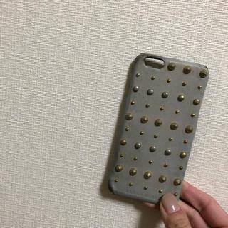 アーバンボビー(URBANBOBBY)のurban bobby iPhone6 6s ケース スタッズ レザー グレー(iPhoneケース)