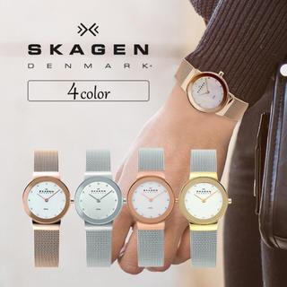 スカーゲン(SKAGEN)のスカーゲン レディース スワロフスキー メッシュベルト 4color(腕時計)